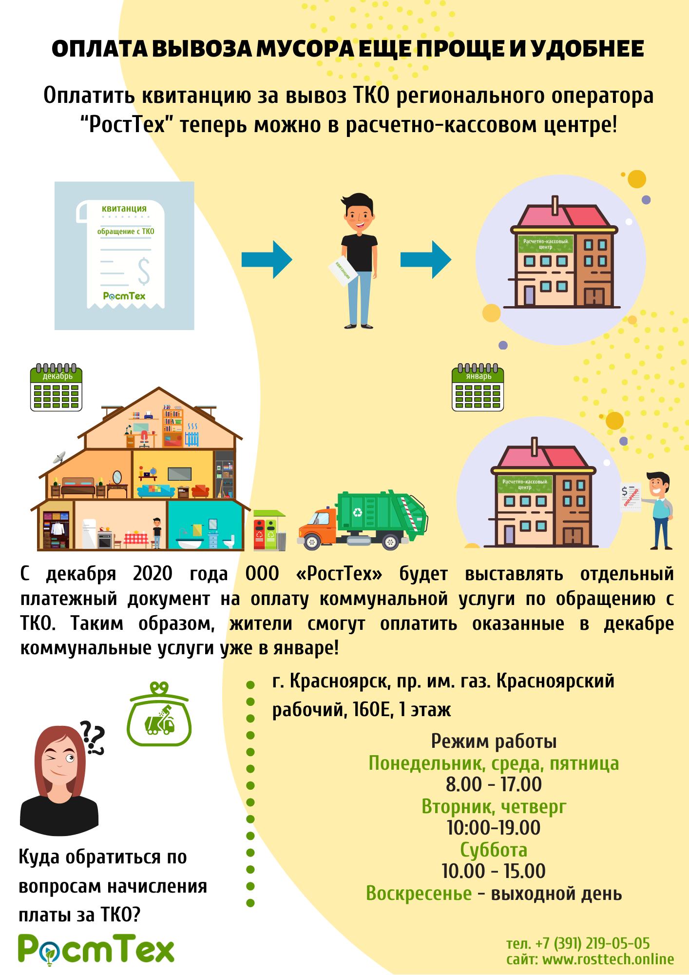 - Оплата за услуги по обращению с твёрдыми коммунальными отходами (ТКО)